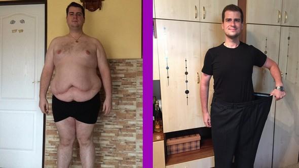 Josef před a po dietě
