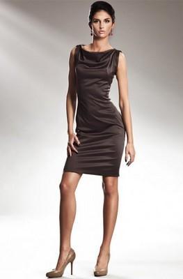 Dámské šaty NIFE bronzové