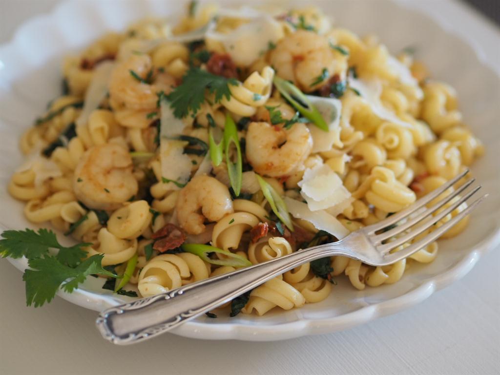 Těstoviny Funghetto s krevetami