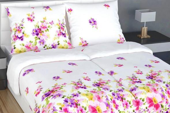 luxusni kvetinove povleceni z bavlneneho satenu
