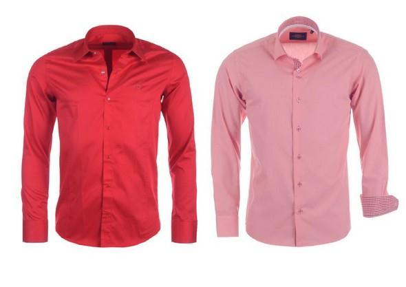 trendy cervena a ruzova panska kosile