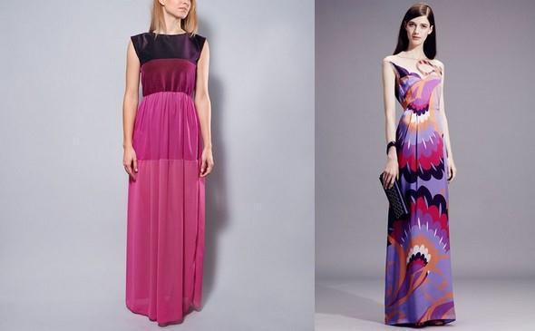 barevné maxi šaty