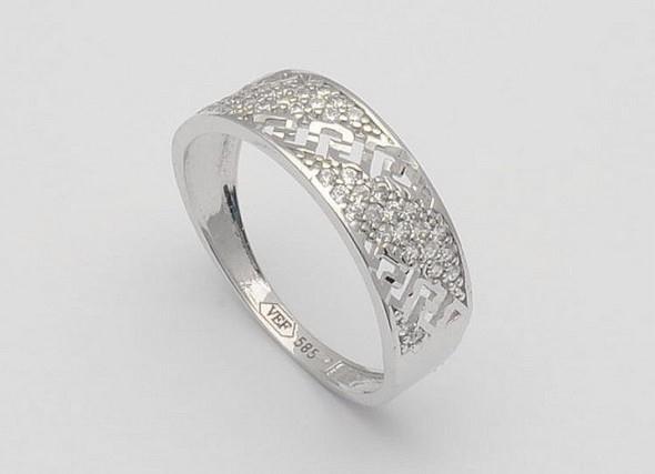 moderni prsten z bileho zlata