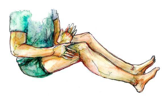 masaz nohou zacina od stehen