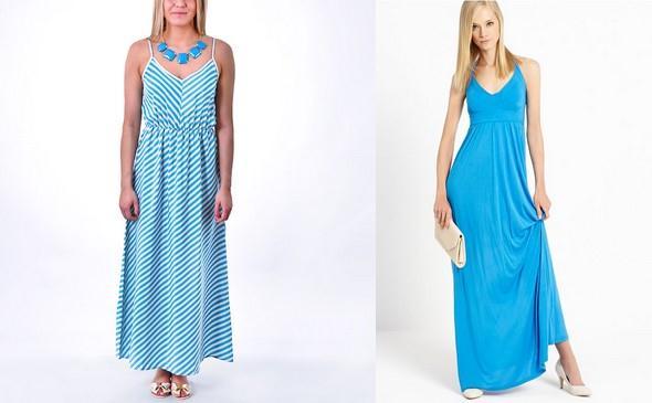 námořnické vzory, modré šaty