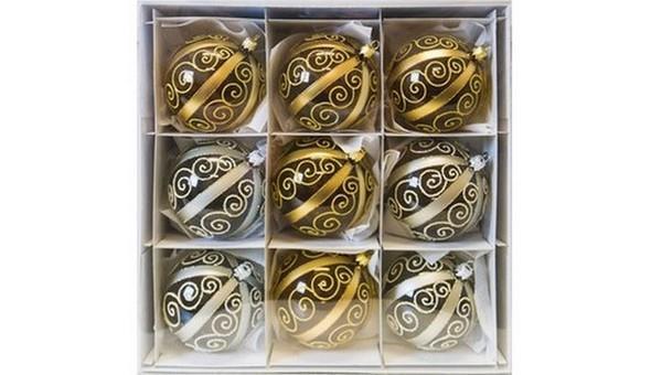 sklenene ozdoby zlate